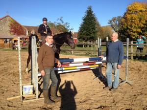le Colonel de la Porte du Theil, Géry Bailliard, Jean-Marc Zalkind au Cercle Equestre de l'Apothicairerie(72)